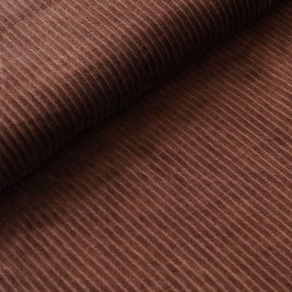 Bilde av Økologisk myk cordfløyel, brun