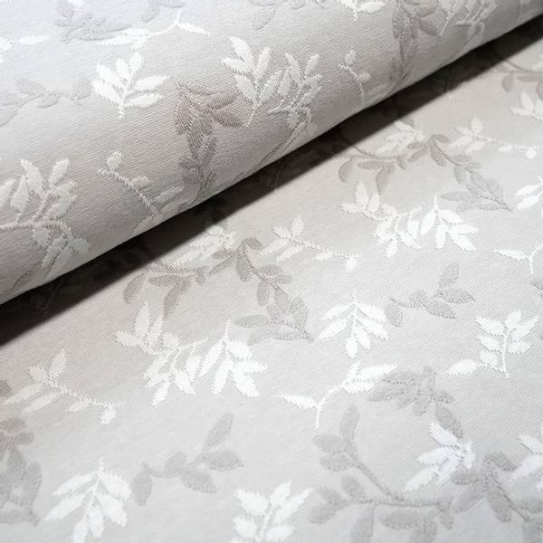 Bilde av Økologisk bomullsjacquard, Shiny Leaves Sølv
