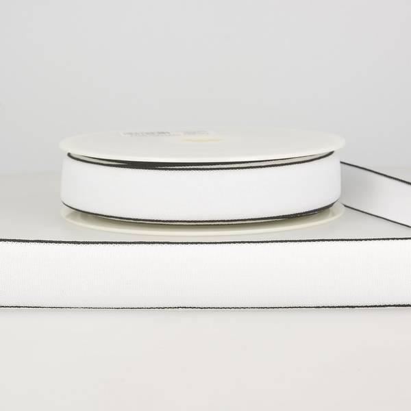 Bilde av Elastisk bånd 2,5cm bredt, hvit