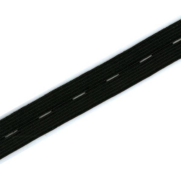 Bilde av Knappestrikk 19mm, svart