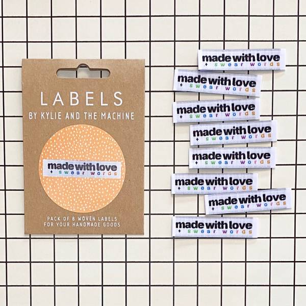 Bilde av Labels, made with love and swear words
