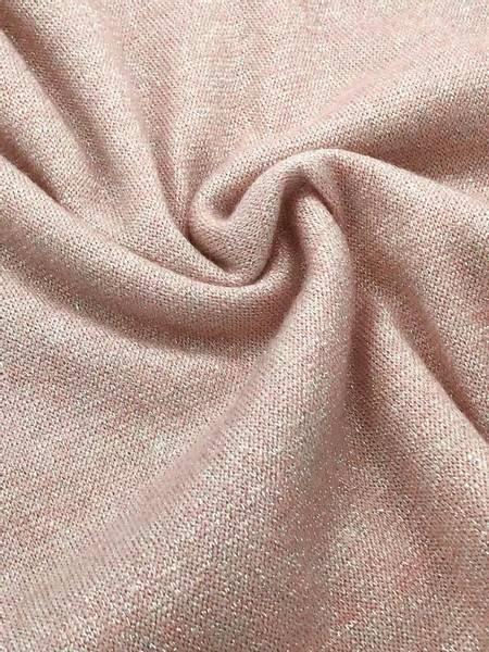 Bilde av Strikkstoff med glitter, sart rosa