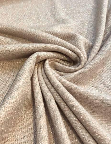 Bilde av Strikkstoff med glitter, sand