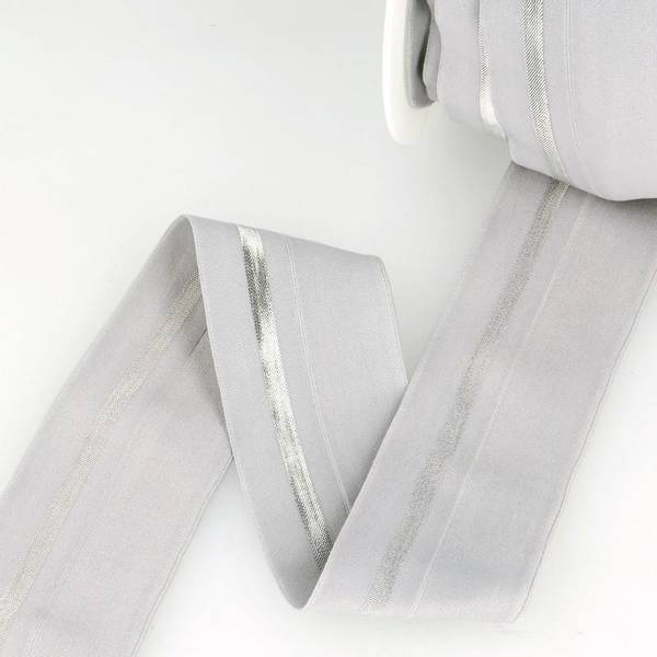 Bilde av Foldeelastikk 40mm, grå/sølv
