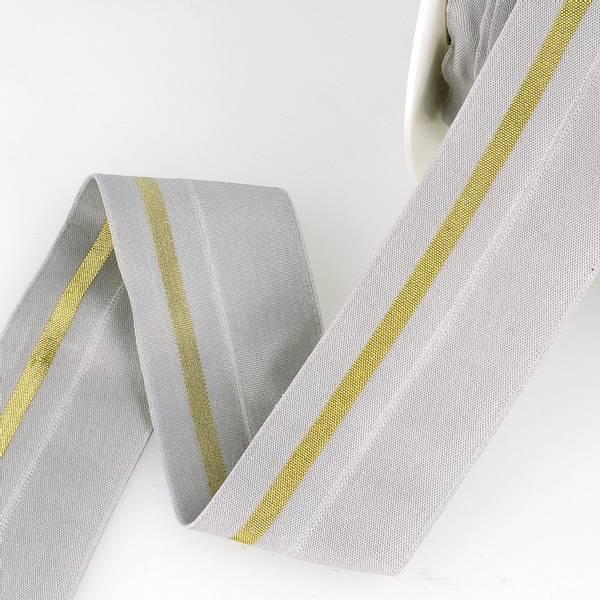 Bilde av Foldeelastikk 40mm, grå/gull