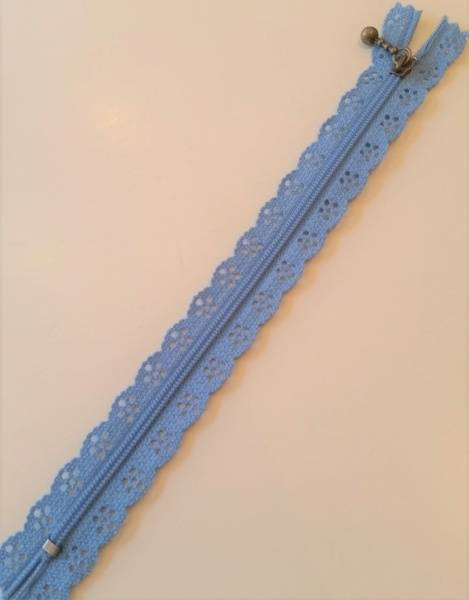 Bilde av Blondeglidelås 20cm, blå