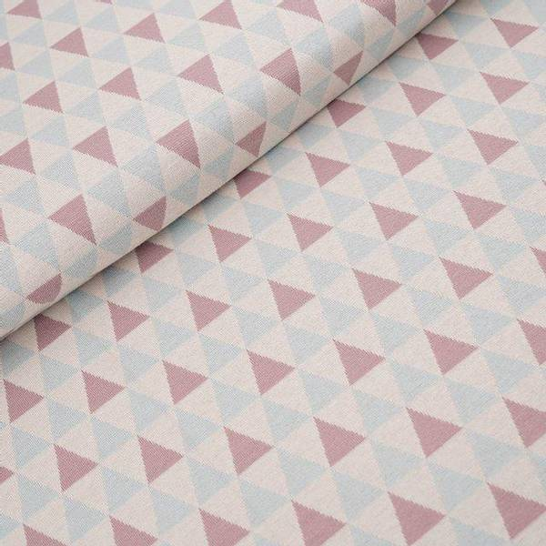 Bilde av Økologisk bomullsjacquard, triangler pastell