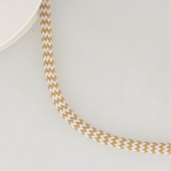 Bilde av zigzag flatt bånd beige/hvit