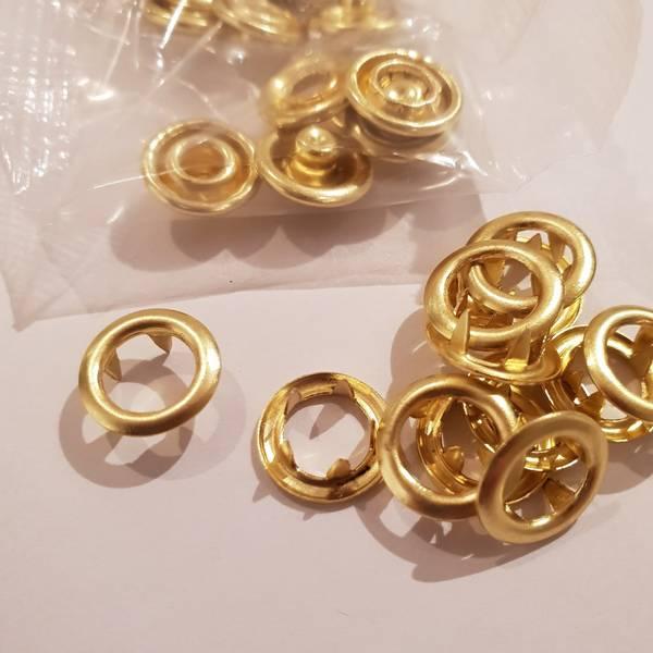 Bilde av Metalltrykknapper gullfarvet