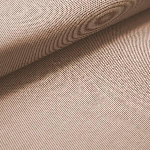 Bilde av Økologisk bomullsjacquard, striper beige