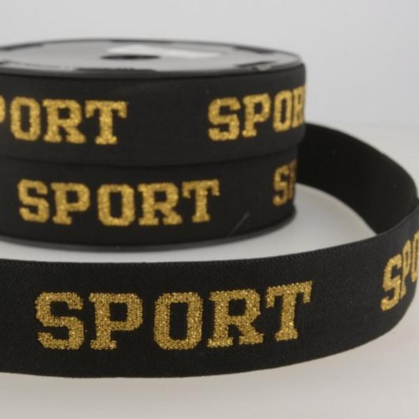 Bilde av 32mm sportstrikk med glitter, gull