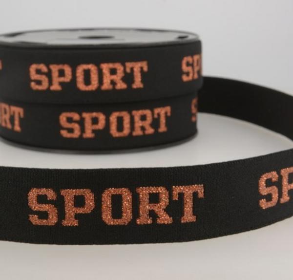 Bilde av 32mm sportstrikk med glitter, kobber