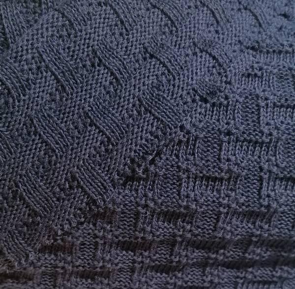 Bilde av Økologisk bomullsstrikk, marineblå