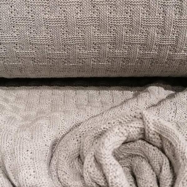 Bilde av Økologisk bomullsstrikk, gråmelert