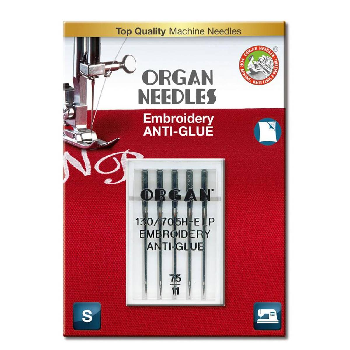 Organ broderinål ANTI-GLUE 75