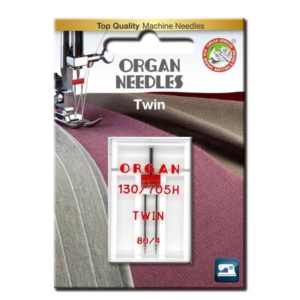 Bilde av Organ tvillingnål, 4mm, 80