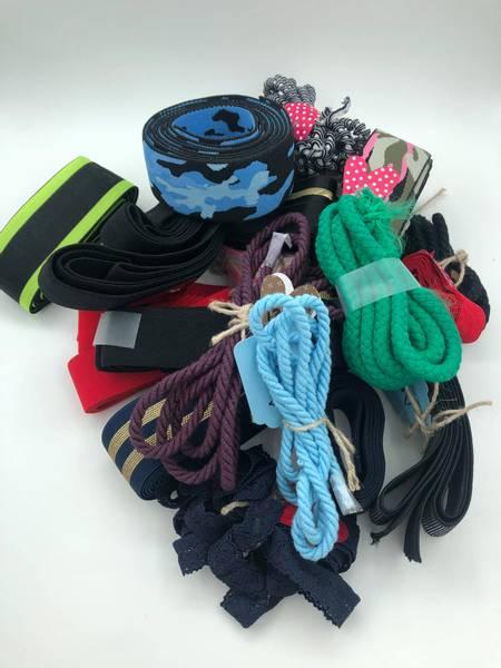 Bilde av Stor restepakke med strikk/bånd/blonder
