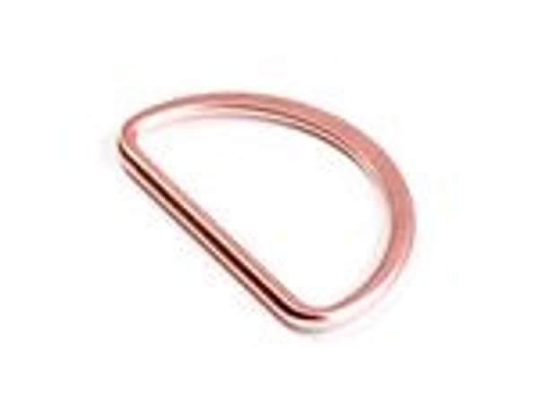 Bilde av 2stk D-ringer 25mm kobberfarget
