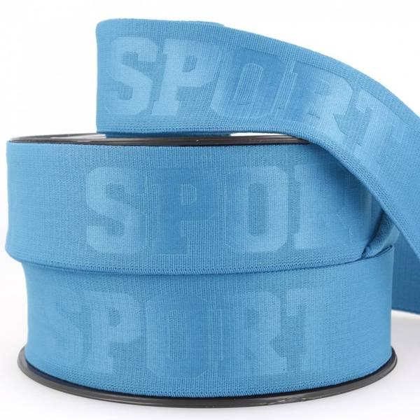 Bilde av 4cm sportstrikk, blå