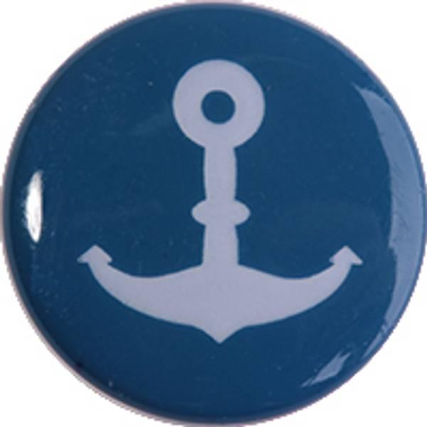 Bilde av Motivknapp blå med anker