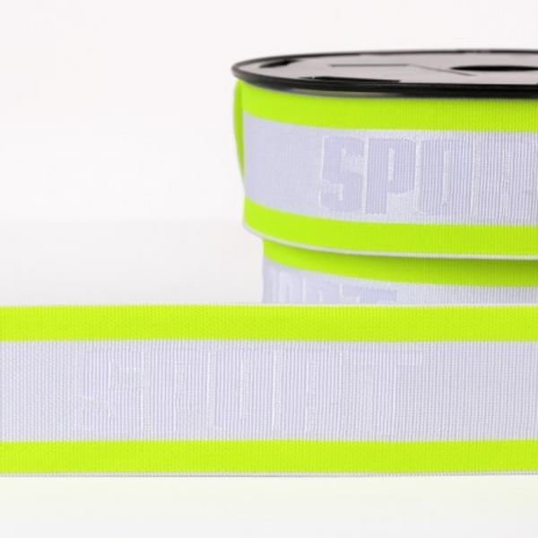 Bilde av 4cm boxerstrikk, neon gul/hvit