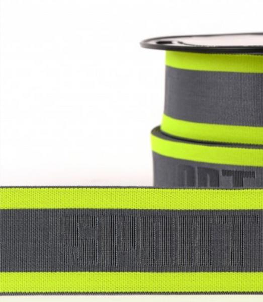 Bilde av 4cm boxerstrikk, neon gul/grå