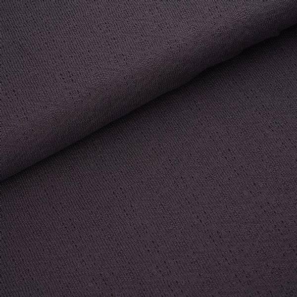 Bilde av Økologisk bomullsstrikk, ruter mørk grå
