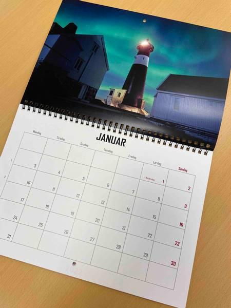 Bilde av Kalender dobbel A4 13 sider med dobbelt trykk