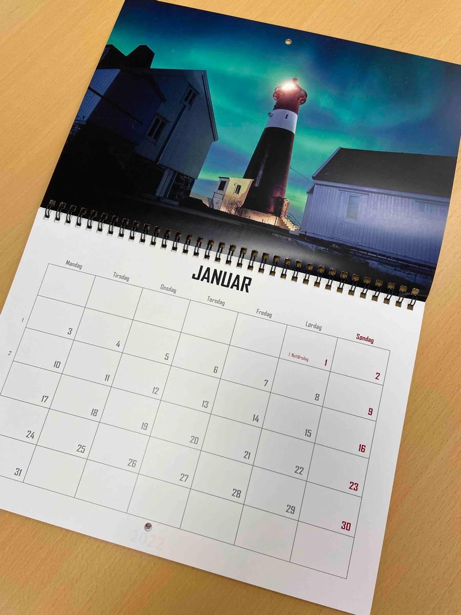 Kalender dobbel A4 13 sider med dobbelt trykk