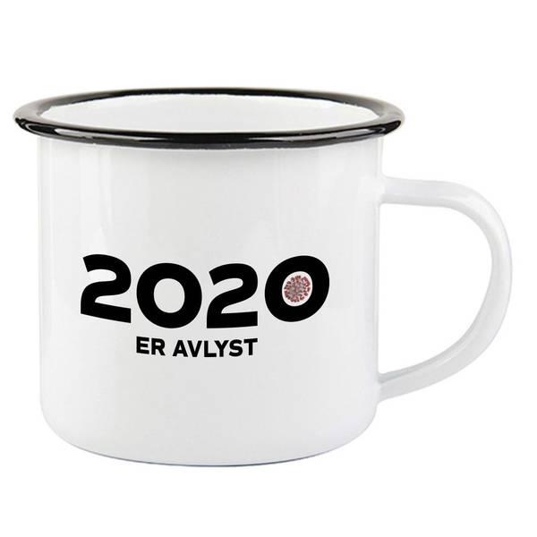 Bilde av 2020 er Avlyst Emaljekopp med Sort Kant