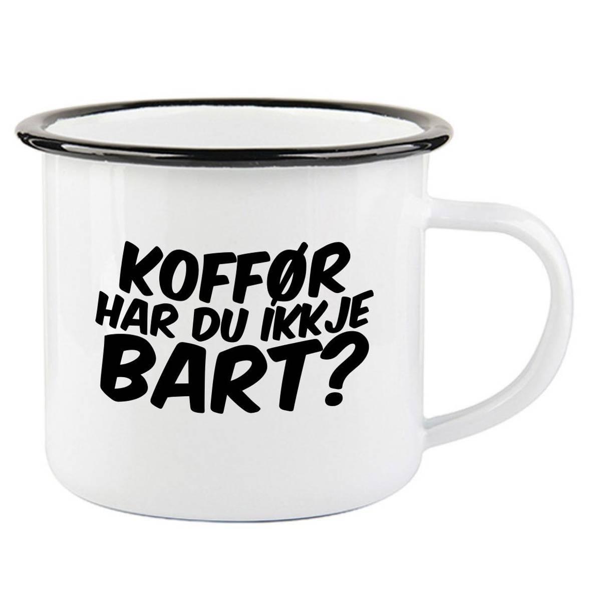 Bart Emaljekopp med Sort Kant