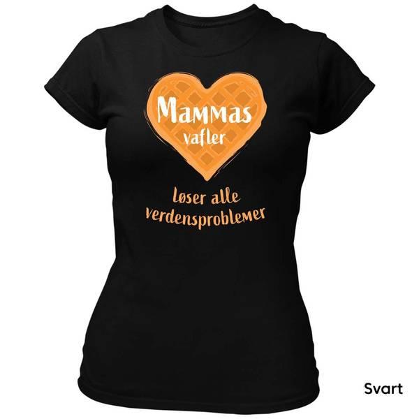 Bilde av Mammas Vafler T-skjorte Dame