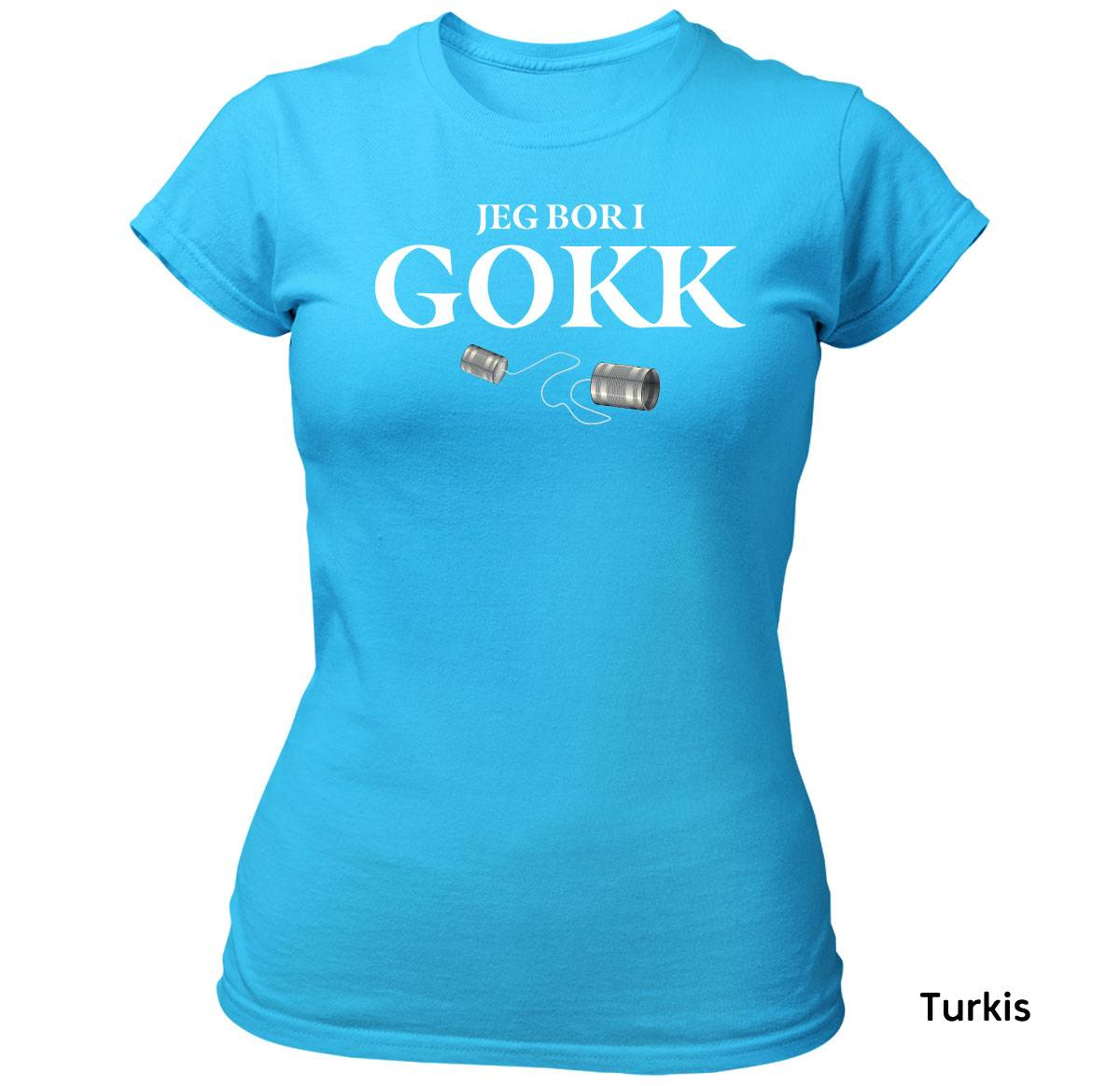 Bor i Gokk T-skjorte DAME