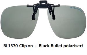 Bilde av Blublocker Clip-on Black Bullet Polarisert