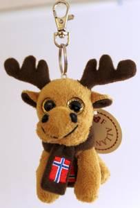 Bilde av Elg nøkkelring Souvenir 9cm brun