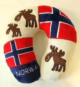 Bilde av Reisepute souvenir m/Norsk flagg og elg