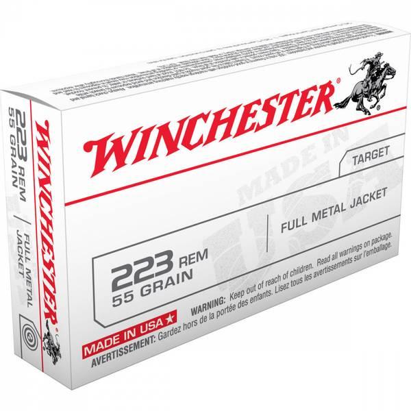 Winch. .223 Rem. 55g. USA FMJ
