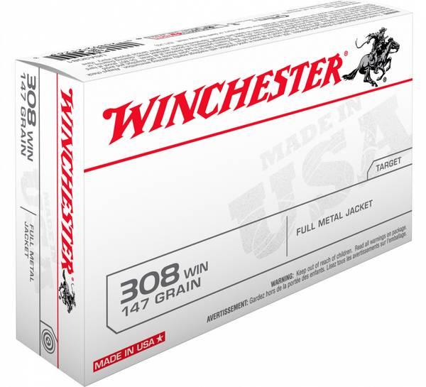 Winchester FMJ 308 147gr