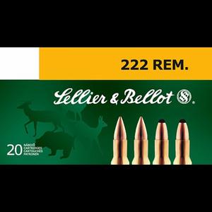 Bilde av Sellier & Bellot 222 .REM 50 gr Helmantel 20pk
