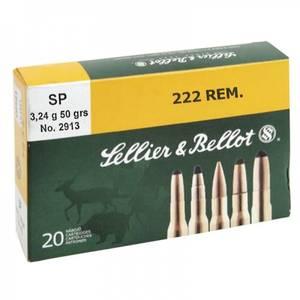 Bilde av Sellier & Bellot 222 .REM 50 grs SP 20pk