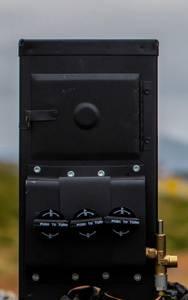 Bilde av Komplett gassovn M4300, 11720W, pipe & regulator