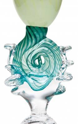 Kunstglass - Grønn musling