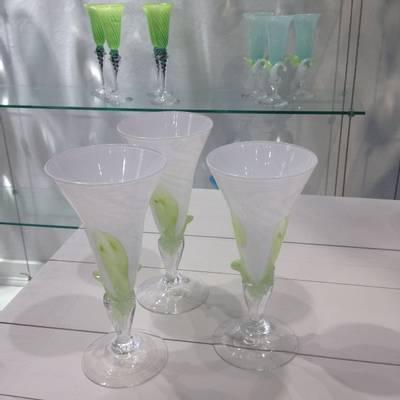 Kunstglass - Snøklokker