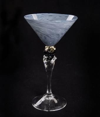Kunstglass - Osean blå