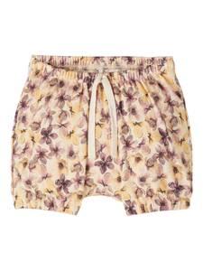 Bilde av Name it, Nbfhenrietta beige shorts med blomster
