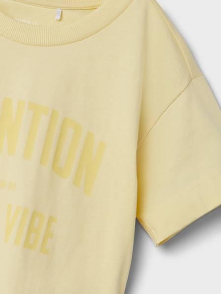 Name it, Nkfjaylo pastellgul t-skjorte