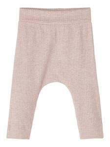 Bilde av Name it, Nbffelly beige/rosa ribbet bukse