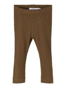 Bilde av Name it, Nbmdinoro brun ribbet legging