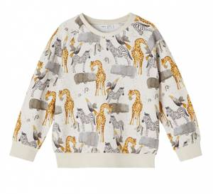 Bilde av Name it, Nmmjelix beige genser med dyr