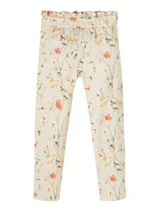 Bilde av Name it, Nmffiola beige bukse med blomster